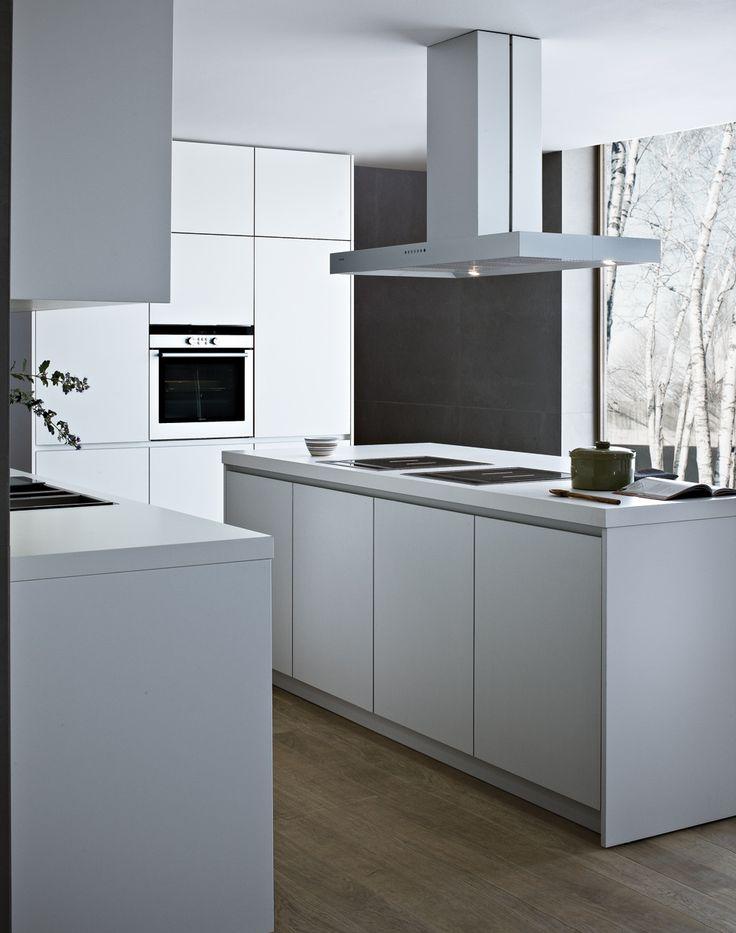Simple White Kitchen   Alea By Poliform