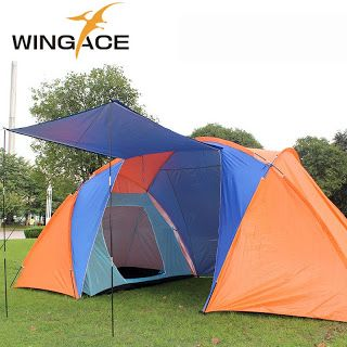 Outdoor tourist tents camping family 4 Person 6 party Beach Two 2 Bedrooms garden large recreation awning camping tent shelter (32796213700)  SEE MORE  #SuperDeals
