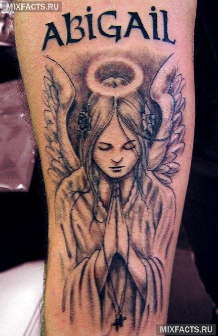татуировка ангела на руке