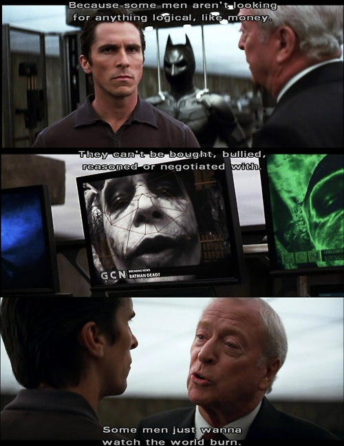 17 best images about the dark knight dark knight some men just want to watch the world burn alfred the dark knight