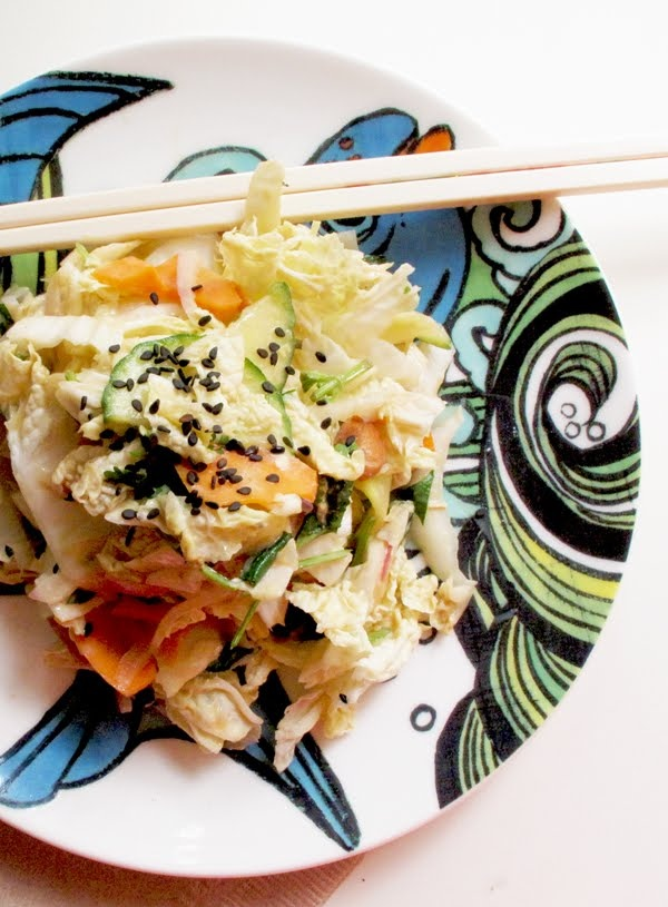 ... blogger Justina Blakeney makes an amazing Asian-inspired cole slaw
