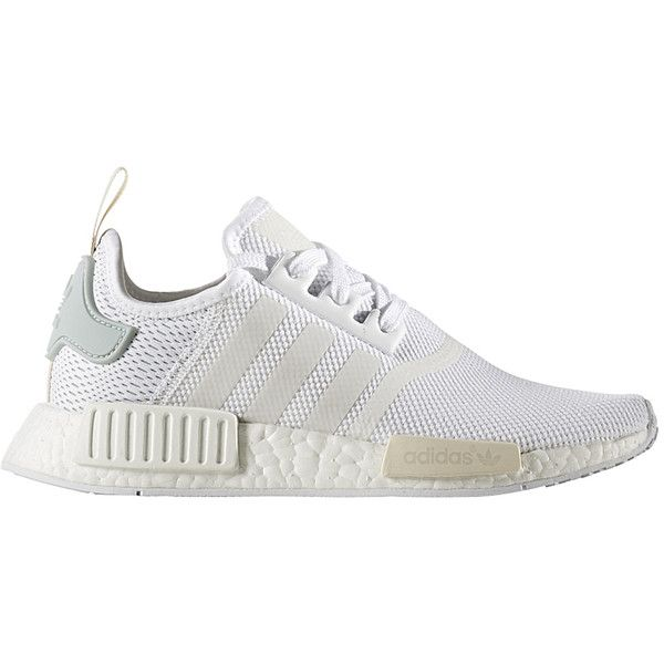 ADIDAS NMD R1 Sneaker für Damen Weiß (270 BGN) ❤ liked on Polyvore featuring shoes, sneakers, sports footwear, sport sneakers, adidas trainers, planet shoes and nebula shoes