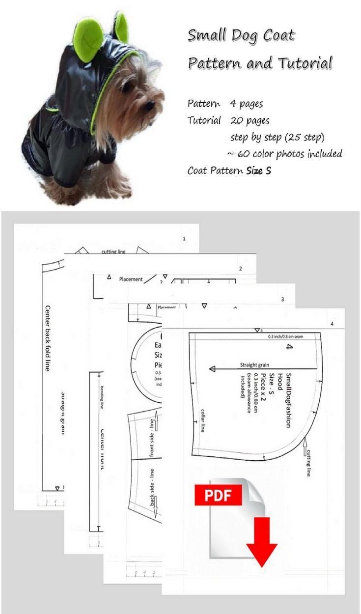 PDF #dogclothes #patterns Coat pattern for dog DIY dog clothes Coat DIY for dog #smalldog clothes Pattern for small dog waterproof coat (scheduled via http://www.tailwindapp.com?utm_source=pinterest&utm_medium=twpin)