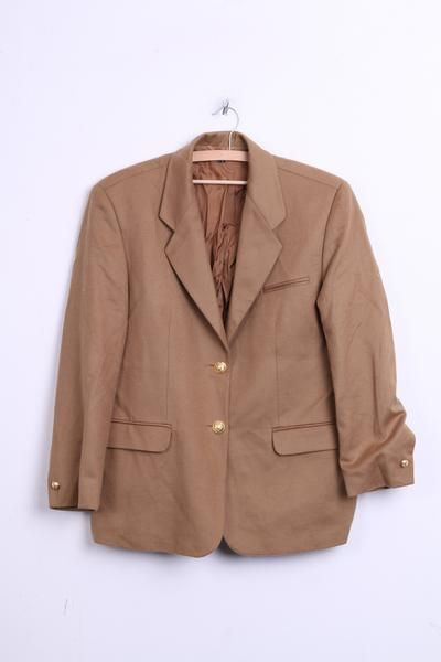 V Clementino Womens 20 3XL Blazer Jacket Carmel Wool Cashmer - RetrospectClothes