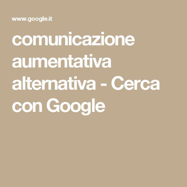 comunicazione aumentativa alternativa - Cerca con Google