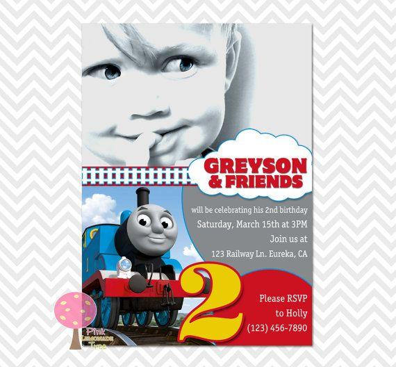 86 best ThomasTrain invitations images on Pinterest Thomas the