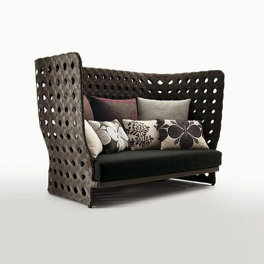 - 7e993594e135c1c174da12885313562f - Canasta – Sofas from B&B Italia. Patricia Urquiola approached the outdoors starting from the theme of woven patterns – r…