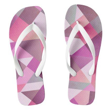 Tickled Pink Custom Flip Flops Thongs Jandals - modern gifts cyo gift ideas personalize