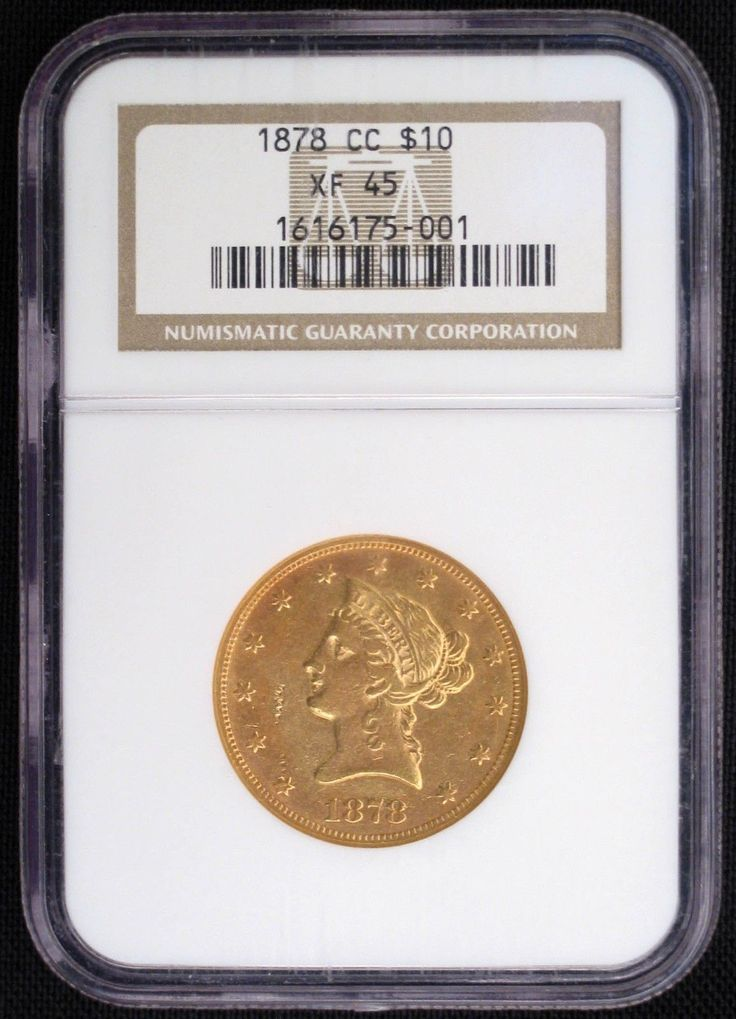 1878 CC $10 Eagle Liberty NGC XF-45 Extremely Rare Gold Coin Less Than 80 Known