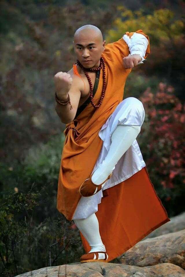 Shaolin monks fighting