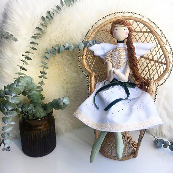 Angel Tilda Doll  Personalised Doll  Babyshower Rag Doll