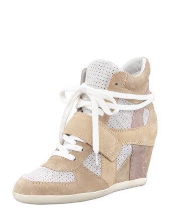Suede Wedge Sneaker  by Ash at Bergdorf Goodman.