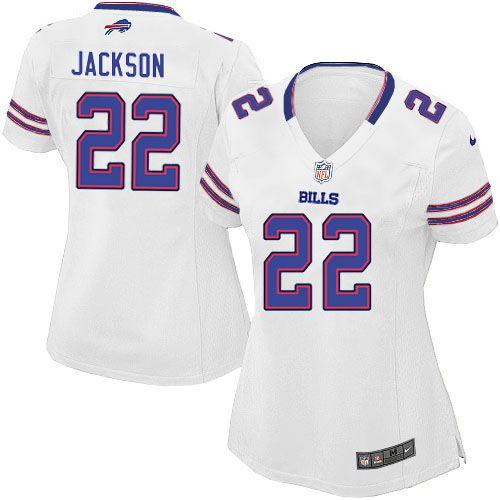 womens nike nfl buffalo bills 22 fred jackson game white jersey 69.99