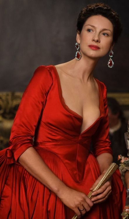 """In the Red Dress """"I told you that dress would cause us grief"""" Jamie to Claire from the Outlander series -"""
