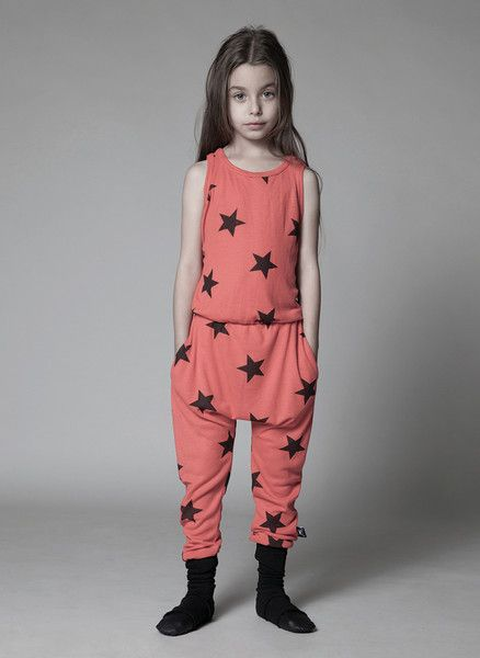 Nununu Star Rompers in Red - NU0731