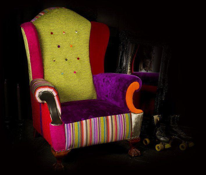 Лоскутная обивка мебели: забудьте о скучных диванах и креслах :: Виолити - Антиквариат