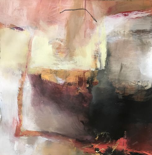 From Here to There abstract by Joan Fullerton Medium: Acrylic on Paper Size: 22 x 22  Availability: Avail