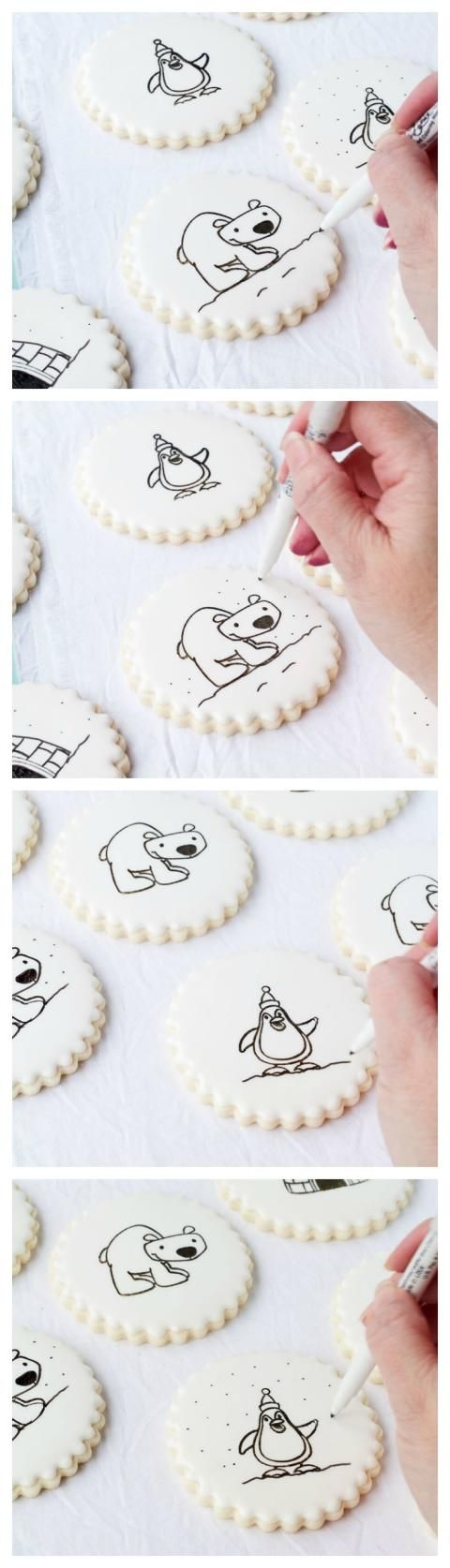 How to Stamp on a Cookie - This makes cookie decorating super easy. You are going to LOVE it! www.thebearfootbaker.com