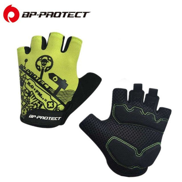 2016 Brand 6 Styles Racing Sport Gloves Summer Cycling Bike Bicycle Motorcycle Fitness Half Finger Gloves Mountain Bike Gloves