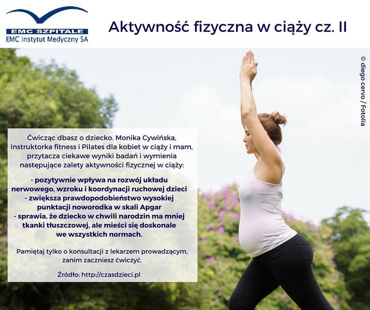 Czy wiecie, że aktywność fizyczna w ciąży pozwala lepiej zadbać zarówno o mamę jak i o dziecko? Polecamy Wam ciekawy artykuł: http://bit.ly/cwiczwciazy #ciaza #ruch #sport #zdrowie #medycyna #emc