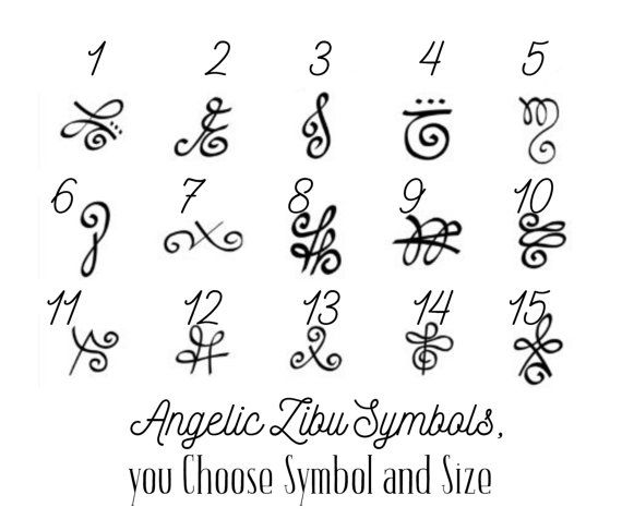 2 Angelic Zibu Symbol Temporary Tattoo, various sizes available wrist finger ankles yoga angel namaste