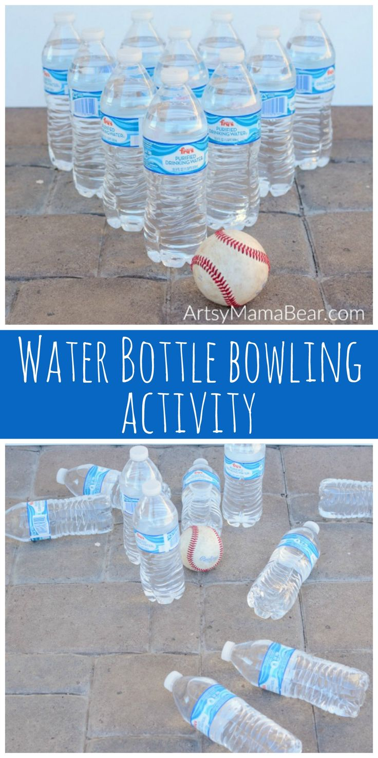 Water Bottle Bowling Activity for Kids