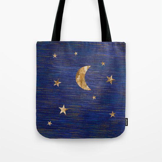 Moon and stars by Inmyfantasia  #Tote #Bag  $16.20