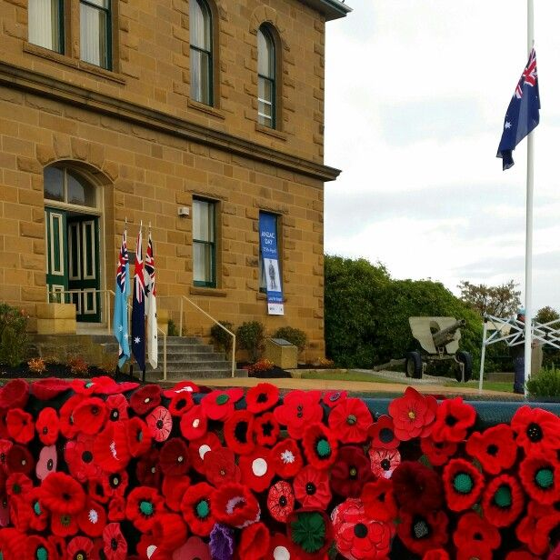 Our 5000 poppy project on the display at the local Anzac service