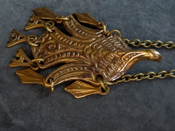 Bronz pendent from Finland kalevala Koru.  soon in the shop: