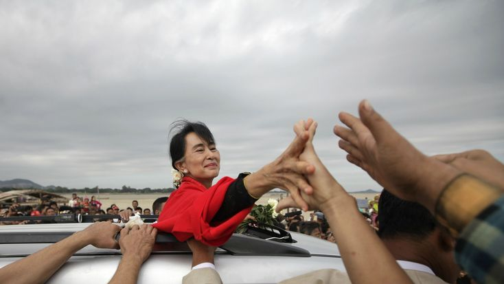 nice A year after Aung San Suu Kyi won power, the world's most famous political prisoner is struggling to transform Myanmar