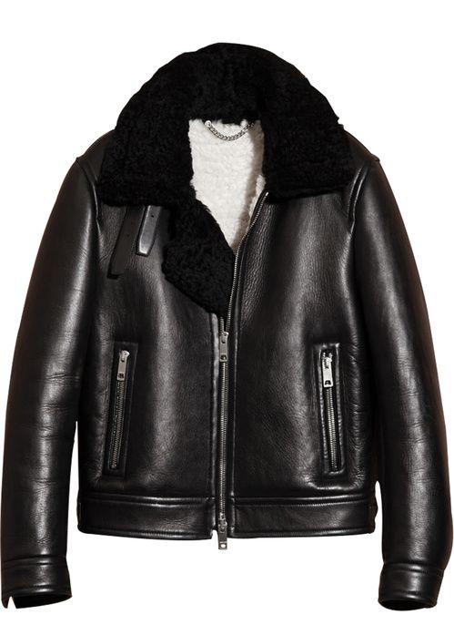 Burberry shearling bomber jacket