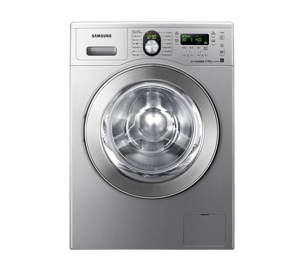 buy samsung ecobubble wf1804wpn2 washing machine silver. Black Bedroom Furniture Sets. Home Design Ideas