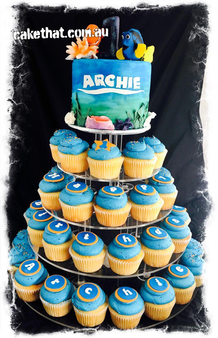 Nemo cake. Nemo cupcakes. First birthday