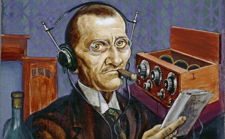 Курт Гюнтер (Kurt Gunther, 1893−1955), «Радиолюбитель», 1927 (деталь)