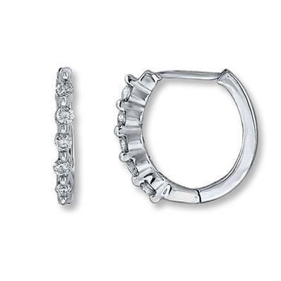 14K White Gold 1/4 Carat Diamond Earrings