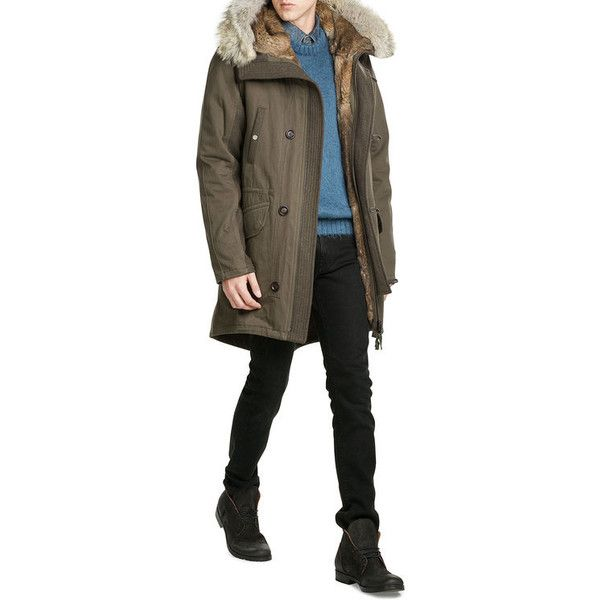 Yves Salomon Cotton Parka With Fur Lining (155,930 INR) ❤ liked on Polyvore  featuring · Parka Coats MensMen's ... - Best 25+ Mens Parka Coats Ideas Only On Pinterest Striped Tops