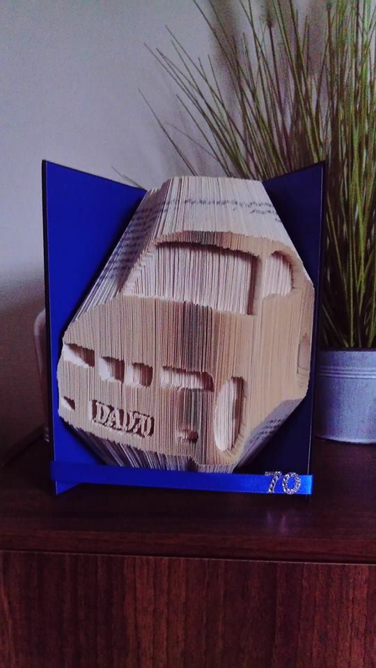 Car With Personalised Number Plate Book Folding Pattern (Combination Fold) by Meggymoonbeams on Etsy