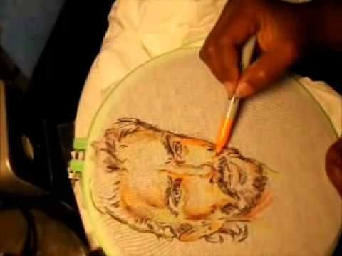 Sharpie Markers-drawing Rick from Walking Dead onto a T-shirt.  The shirt will need to be treated for these permanent markers not to wash out or bleed