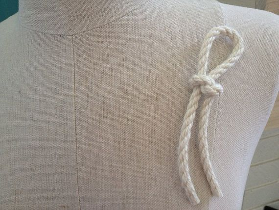 Beach nautical  rope boutonniere by EandAHeritage on Etsy