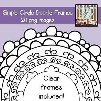 20 Simple Circle Doodle Frames $