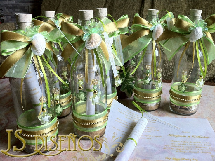 17 best images about botellas on pinterest souvenirs for Mesas decoradas para bodas