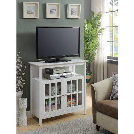 Convenience Concepts Designs2Go Big Sur Highboy TV Stand, White