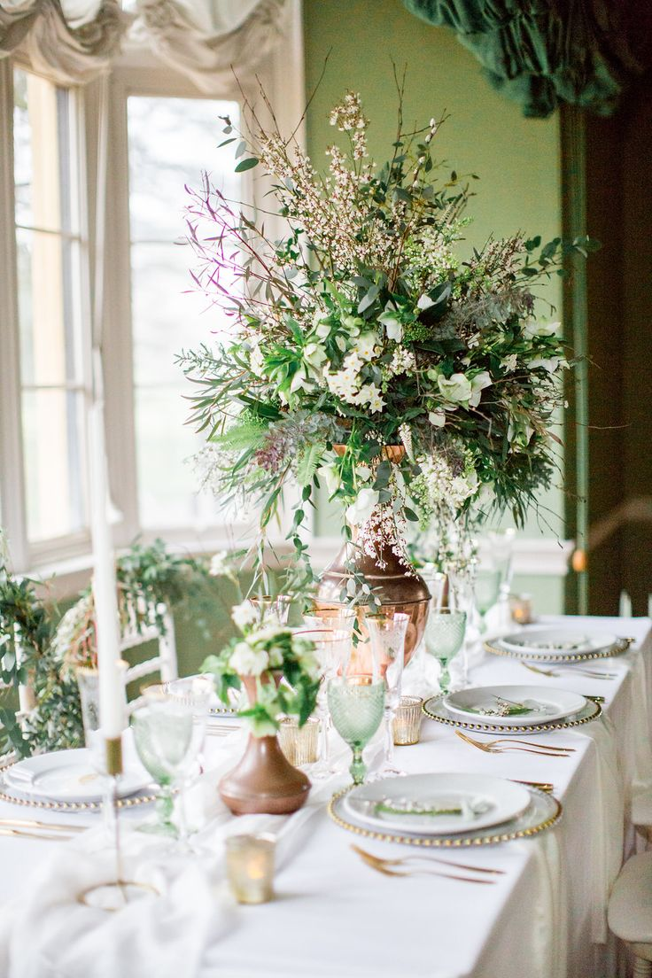 Beautiful styling for a green and gold luxe wedding. Photography - PHILIPPA SIAN PHOTOGRAPHY Venue - AUDLEY END HOUSE Videography - ASH VIDEOGRAPHY Styling and Coordination - FLEUR & FIG Bridalwear - JESSICA TURNER DESIGNS Bridal Shoes - EMMY LONDON Flowers - VIOLETS AND VELVET Cake - THE CUSTOM CAKE BOUTIQUE Linen, Tables, Chairs, Plates - THE EVENT HIRE COMPANY Cutlery & Glasswear - CLASSIC CROCKERY Stationery -  THE GOLDEN LETTER Jewellery/Engagement Ring - DAINTY LONDON Hair Accessories…
