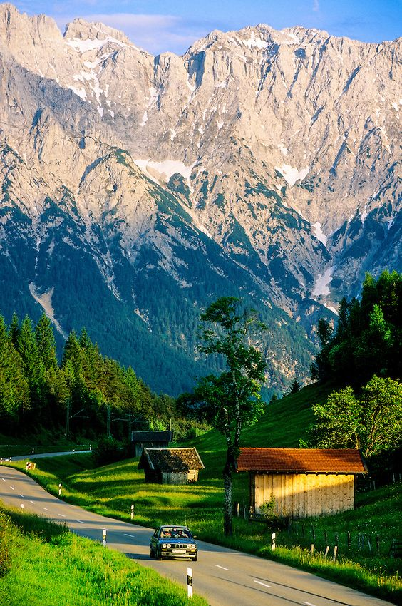 Near Mittenwald, Bavaria, Germany, it's located next to Garmish, some of the best skying there.