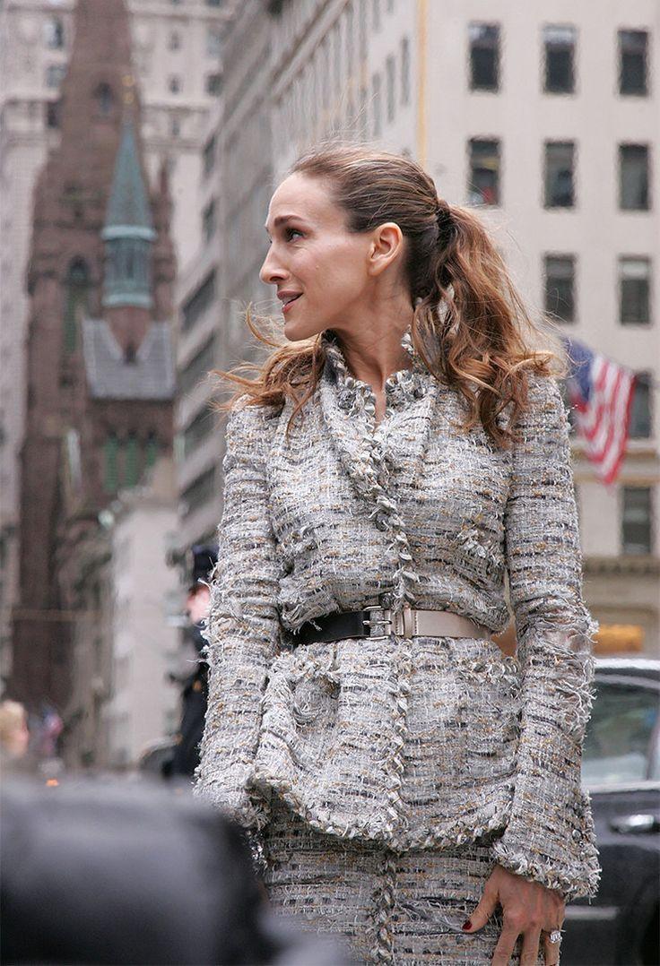 Сара Джессика Паркер во время съемки в Нью-Йорке, 2007 год