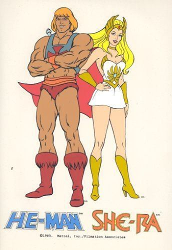 He-Man and She-Ra, brother and sister