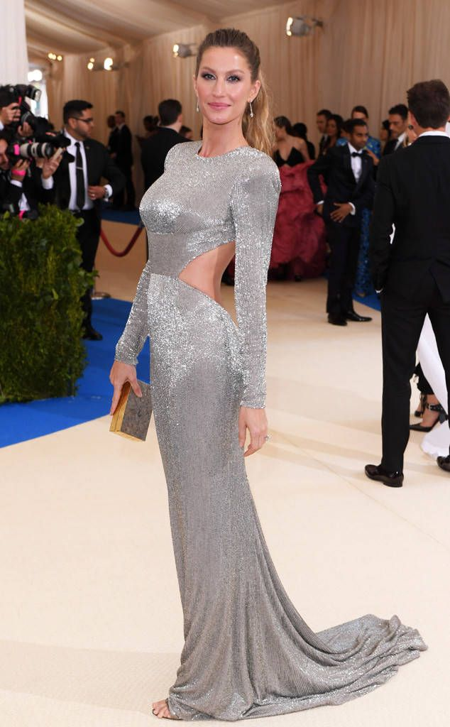 Gisele Bundchen, 2017 Met Gala...  OMG, imagine this in bridal tones. Fabric is everything when recreating this look. Stay within the BUDGET!!