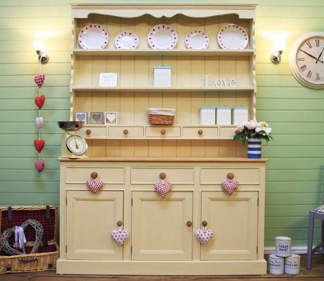 Beautiful Welsh Dresser painted in Annie Sloan Cream - The Welsh Dresser Company, Liverpool UK #ShabbyChic #PaintedFurniture