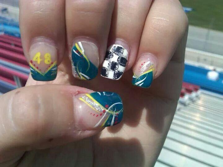 Nascar Nails Jimmie Johnson - 25+ Beautiful Nascar Nails Ideas On Pinterest  Racing Nails - Nascar Nail Art Graham Reid
