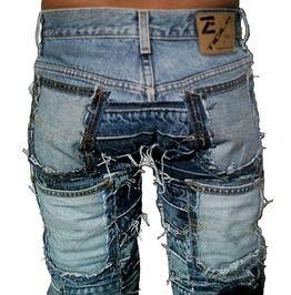 Rocker Queen Hardcore Unique Handmade Patch Jeans Pants 26 28 30 32 34 36